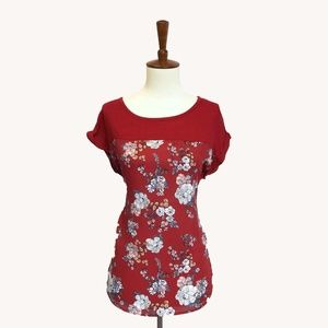 Modcloth Tops - Red Flower Top